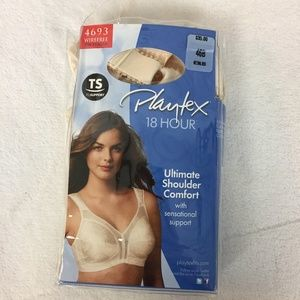 Playtex Bra 4693 Ultimate Shoulder Comfort 46B